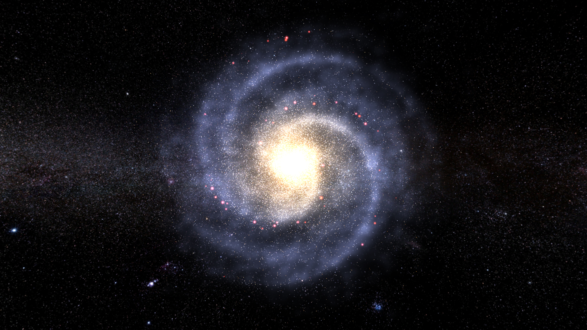 Rendering a Galaxy in Unity with the Density Wave Theory