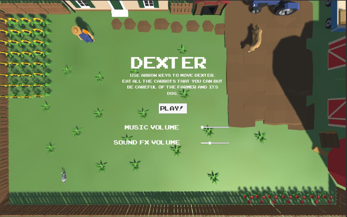 Dexter the rabbit visits the farm