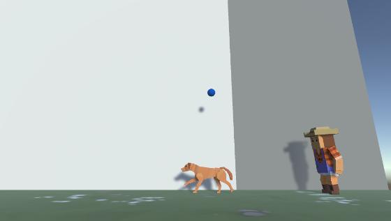 Dog, play fetch!