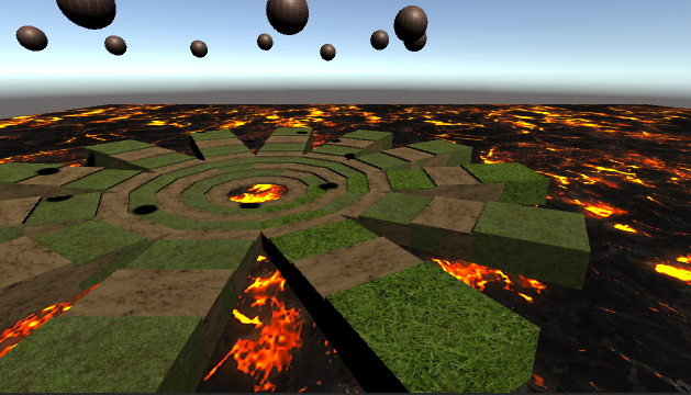 Rolling Ball on Fire ground game demo, by Kelvinkit Design (Clever Games & Toys)