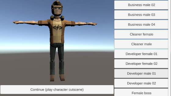 Micro character select screen v0.1.4