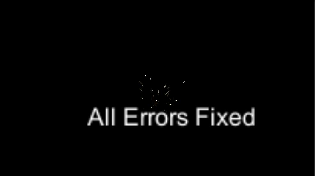 Error Fix Proyect
